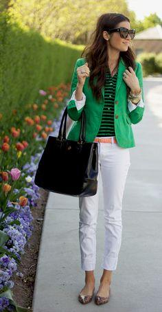 Women's Schoolboy Boyfriend Style Blazer Jacket Linen J.Crew Summer 2012 Pictures