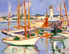 Boats at Royan - Peploe Samuel