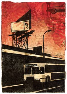 Minneapolis Billboard Collage on Paper / Shepard Fairey via obeygiant.com
