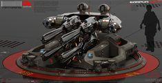 Concept Gun on magnetic levitation, Oshanin Dmitriy on ArtStation at https://www.artstation.com/artwork/WGbJ2