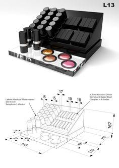 LAKME' Display on Behance Pos Display, Store Displays, Display Design, Store Design, Makeup Display, Cosmetic Display, Cosmetic Shop, Makeup Shelves, Cosmetics Display Stand