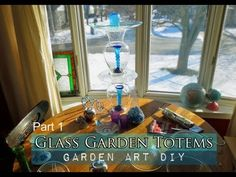 How-to, with video, on making Glass Garden Totems.