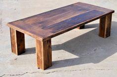 "Reclaimed Oak Barn Wood Coffee Table "" The Herc"""