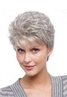 Image result for women with short grey hair