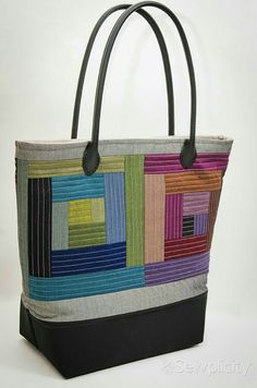 Bright colorful design on this tote!