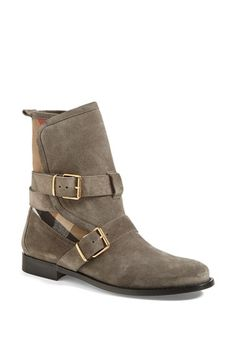 Burberry 'Worcester' Belted Suede Boot (Nordstrom Exclusive) (Women) available at #Nordstrom $460