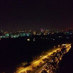 Night view from apartment