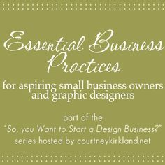 5 Essential Steps to becoming a Small Business Owner. How I started my design business from nothing...