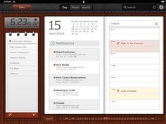 ipad calendar - Mobile Interface - Creattica