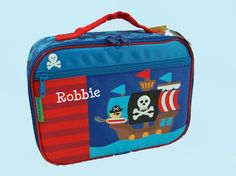 Personalized Stephen Joseph PIRATE Lunchbox by DeerpathDesigns on Etsy