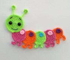 PATTERN Caterpillar Applique Crochet Pattern PDF Instant
