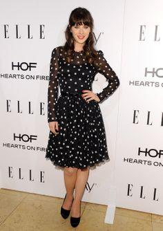 Zooey Deschanel - ELLE's annual Women in Television Celebration, LA (Jan. 22)