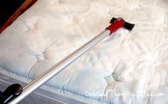 cleaning your mattress:  Mix baking soda with 1 tbsp of fabric softener and spread on mattress every one or two months. Leave on an hour and vacuum off. Kills dust mites and freshens the mattress.