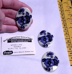 Love these!!  I have coodinating pendants and little cabs, all sort of these - but only a few of these large ones...  Cabochon  Trio of Rare Vintage Large 30x40MM by bansheehouseofmake, $8.00