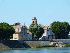 The Rhone in Arles, Provence, France
