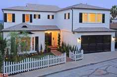 Naya Rivera (Los Feliz, CA) Glee star Naya Rivera once owned this Los Feliz home, complete with white picket fence. She listed the house for...