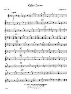 Celtic Dance: 1st Violin