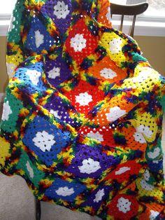 Rainbow Granny Afghan