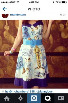 Bed sheet Star Wars dress