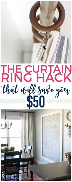 This Curtain Ring Hack Will Save You 50 Without Comprising On Style Home Decor Hacks, Home Hacks, Diy Home Decor, Decor Ideas, Diy Ideas, Decorating On A Budget, Interior Decorating, Interior Design, Decorating Hacks
