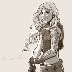 Thnx by samanthadoodles on DeviantArt . Character Sketch / Drawing .