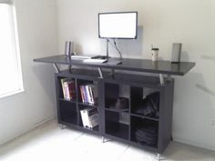 20 Excellent IKEA Hacks You Should Try | Mental Floss: DIY Standing Desk!! Gotta get me one of these...