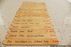 Screen Accountability Paddle Pops. My kids now beg to do chores! A real life changer!