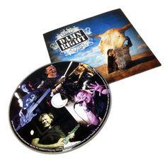 A piece of Damn Right CD + sleeve