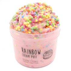 SALE Rainbow Cream Puff Slime Scented #Slime