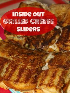 Inside Out Grilled Cheese Sliders -made with Hawaiian Sweet Rolls, gooey cheese, and smoked turkey plus a secret ingredient to crisp up the bread!
