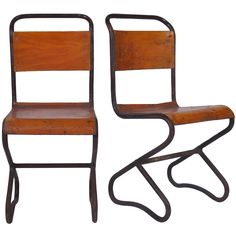 Pair of Bistro Metal Chairs | From a unique collection of antique and modern side chairs at https://www.1stdibs.com/furniture/seating/side-chairs/