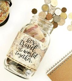 Lets travel the world together..... #travel #couple #love #savingsjar
