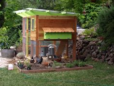 This is a coop from the Garden Coop plans. I'm beginning to consider a larger coop, in case we ever decide to expand the flock.
