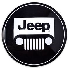 "Jeep Logo 15"" Metal Art In Black/white"