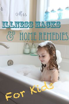 Like Mom and Apple Pie: Illness Hacks & Home Remedies…for KIDS!- surviving cold and flu season: ACHES & Pains- add Epsom Salt & Apple cider vinegar to bath to relieve aches and pains, sore muscles and growing pains.