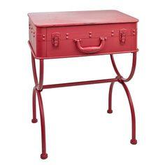 Metall-Koffer-Tischchen von Strauss Innovation