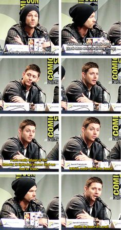 [gifset] When they were you young what were they scared of? #SDCC15< me too, Jared... me too