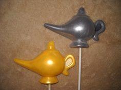 1 chocolate shimmer lamp jasmine aladdin genie lollipops lollipop | sapphirechocolates - Edibles on ArtFire