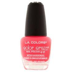L.A. Colors Color Craze Nail Polish, Lightning, 0.44 fl oz, Pink
