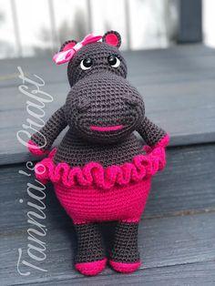 Amigurumi Girl Hippo Crochet Animal Stuffed animal Handmade