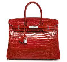 115ab0bb6f Hermès Birkin in Braise Porosus Crocodile with Diamond Hardware