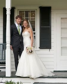 Elizabeth Byrne, a Boston-based mental health therapist, and Tom Stults, an investment analyst, wed on September 10, 2011. The day merged classic elegance with rustic touches, complementing the affair's pastoral setting: the bride's family farmhouse in Clinton Corners, New York.