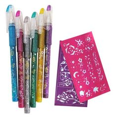 Create cool and temporary body tattoos with Tattoo Gel Pens from U.S. School Supply.  These pens use ink that washes off easily with soap and water.  Six different colors along with stencil sheets will help you create a masterpiece.  Let your students get creative with our Tattoo Gel Pens.