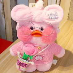 Cafe-Mimi Yellow Duck Plush Toy With Pink Cheek Stuffed Duck Toys Kawaii Plush, Cute Plush, Cute Ducklings, Film Anime, Tout Rose, Funny Duck, Duck Toy, Pink Cheeks, Baby Ducks