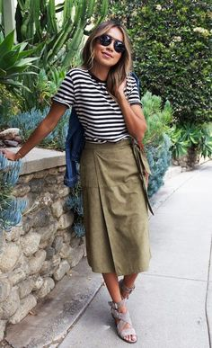 13f3388d0f 14 Best Khaki skirt outfits images in 2019 | Dressing up, Fashion ...
