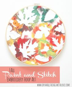 Fall embroidery hoop art fall diy crafts diy crafts do it yourself embroidery fall crafts hoop art fall projects fall decorating ideas fall craft projects