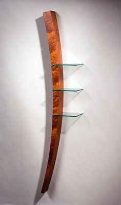 Tusk Shelf by Richard Judd (Wood & Glass Shelf