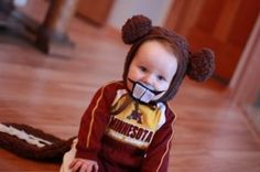 My son's Gopher costume.