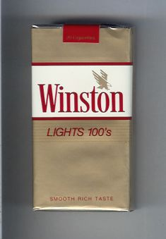 Winston with eagle from above in the right Lights cigarettes soft box. Vintage Cigarette Ads, Cigarette Brands, Cigarette Box, Vintage Metal Signs, Vintage Tools, Vintage Ads, Winston Light, Marlboro Gold, Winston Cigarettes