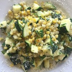 Parmesan Corn & Zucchini + Kid Friendly Foods High in Protein